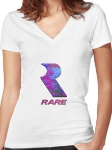 RARE Women's Fitted V-Neck T-Shirt