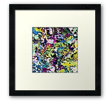 Vivid Colorful Abstract Texture Noise Framed Print