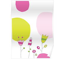 Spring card with flowers Poster