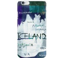 Iceland Map iPhone Case/Skin