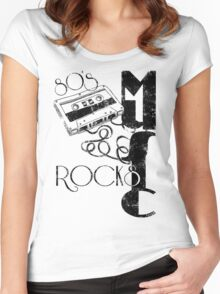 80's Music Rock's Women's Fitted Scoop T-Shirt