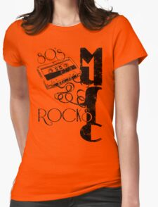 80's Music Rock's Womens Fitted T-Shirt