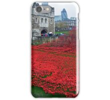 Poppies at London Tower iPhone Case/Skin