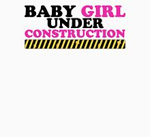 Baby Girl Under Construction Womens Fitted T-Shirt