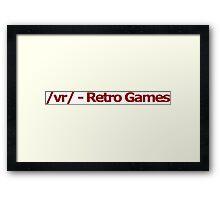 /vr/ - Retro Games 4chan Logo Framed Print