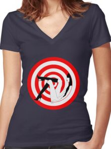 TARGET Women's Fitted V-Neck T-Shirt