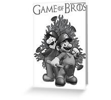 Game of Bros by lilterra.com Greeting Card