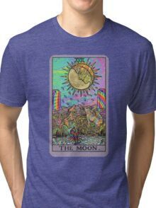 Psychadelic Tarot- The moon Tri-blend T-Shirt
