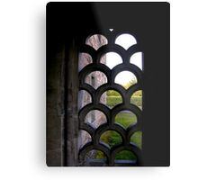 Looking through the porch. Metal Print