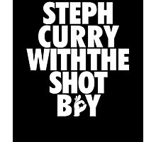 Steph Curry With The Shot Boy [White] Photographic Print