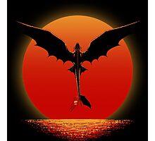 Dragon on Sunset Photographic Print