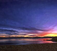 Tahoe Winter Sunset by Larry Darnell