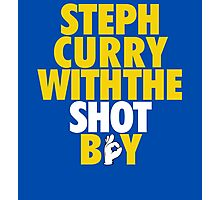 Steph Curry With The Shot Boy [Yellow/Gold] Photographic Print