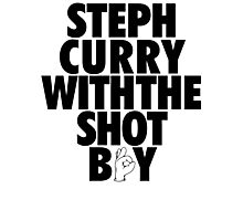 Steph Curry With The Shot Boy [Black] Photographic Print