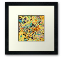 Warm Abstract Composition Framed Print
