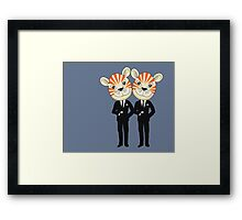 Tiger Twins are there for you Framed Print