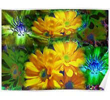 bright flowers ( yelow and green)...! Poster