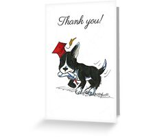 Terrier Grad (Thank You Card) Greeting Card