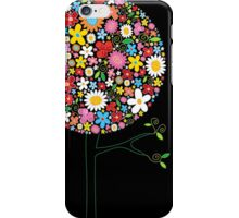 Whimsical Colorful Spring Flowers Pop Tree II iPhone Case/Skin