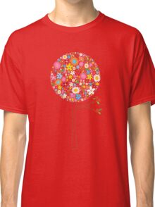 Whimsical Colorful Spring Flowers Pop Tree II Classic T-Shirt
