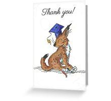 Bobcat Graduate (Thank You Card) Greeting Card
