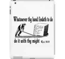 ECCLESIASTES 9:10  JUST DO IT iPad Case/Skin