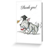 Bulldog Grad (Thank You Card) Greeting Card