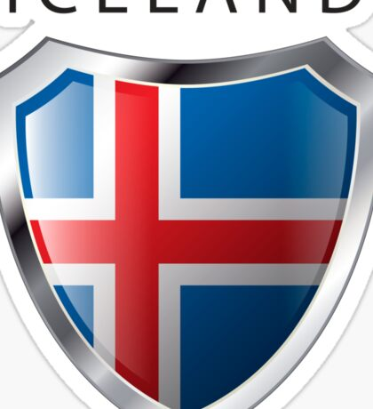 Iceland Shield - Full Size Sticker