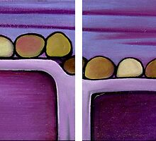 The Human Race, Diptych by Makeba Kedem-DuBose