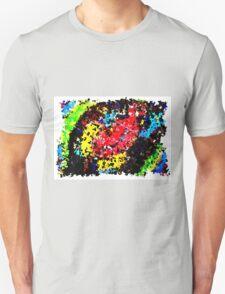 Impressionistic frog colour print T-Shirt
