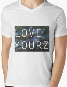 LOVE YOURZ Mens V-Neck T-Shirt