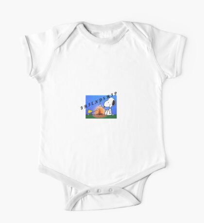 snoopy and woodstock ...memorable moments  One Piece - Short Sleeve