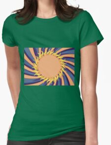Abstract sunny background Womens Fitted T-Shirt