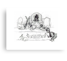 Mad Hatter Tea Party Canvas Print