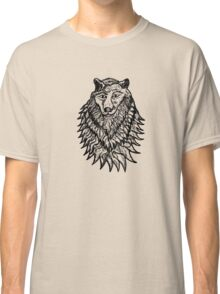 Abstract Wolf Sketch Classic T-Shirt