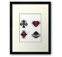 Diamonds, Clubs, Spades, Hearts Framed Print
