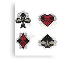 Diamonds, Clubs, Spades, Hearts Canvas Print