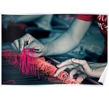 Weaving - Lombok, Indonesia Poster