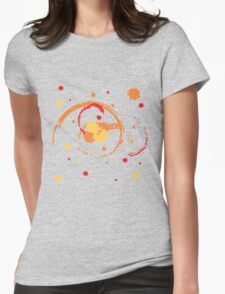 Colorful Brush Strokes Womens Fitted T-Shirt