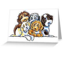 Cockapoo Rainbow Greeting Card