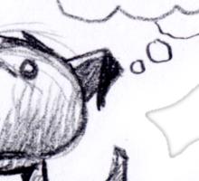 Dog breaks wind... Sticker