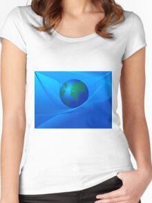 Earth Globe Women's Fitted Scoop T-Shirt