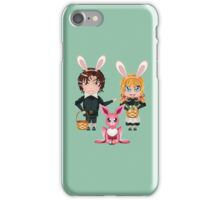 Easter Boy and Girl 2 iPhone Case/Skin