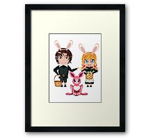 Easter Boy and Girl 2 Framed Print
