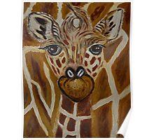 Baby Giraffe, Momma and baby, nursery decor, home decor, wall art Poster