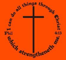 PHILIPPIANS 4:13 circular Kids Clothes