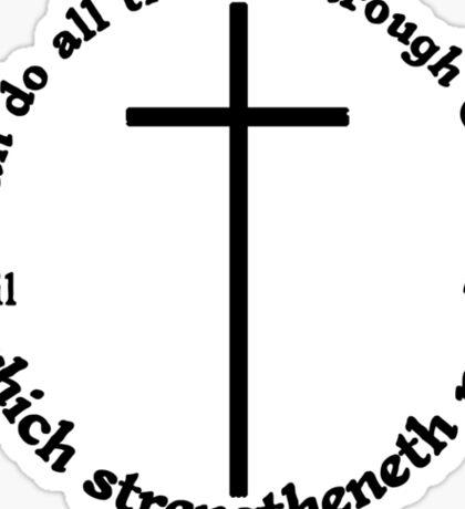 PHILIPPIANS 4:13 circular Sticker