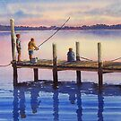 """""""Gone Fishing"""", South Coast by Fiona  Lee"""