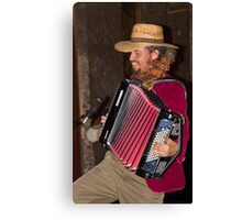 Argentinian Accordion Player Canvas Print