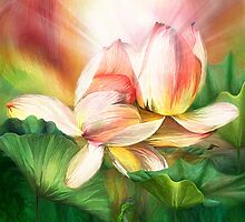 Lotus - Spirit Of Life  by Carol  Cavalaris